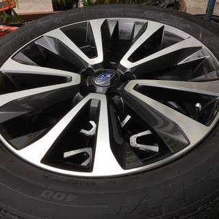 "Pre-Owned 18"" Original Subaru Sports Rim + Tyres (New Car Take Off)"