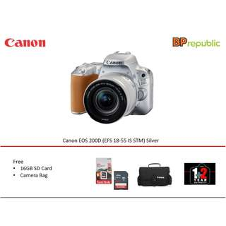 EOS 200D ( EFS 18-55 IS STM) Silver