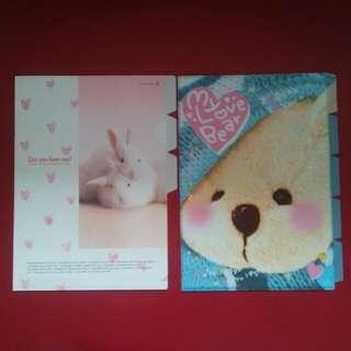 """File Document """"Bunny & Bear"""""""
