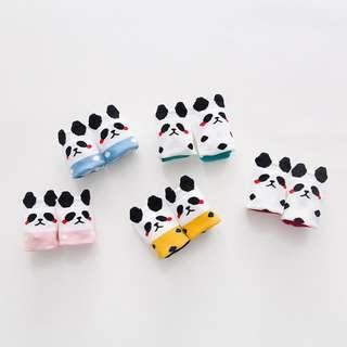 熊貓 卡通短襪