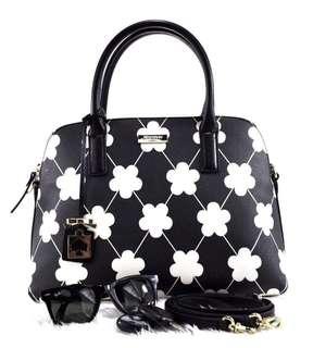 Katespade floral black/white