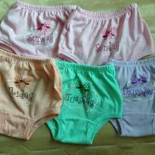 Baby 1week set of panties