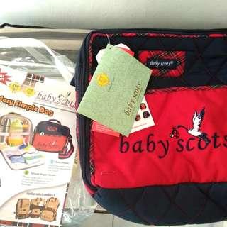tas bayi merk baby scots new ex kado warna merah / tas pampers / tas susu bayi
