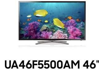 Samsung UA46F5500AM LED smart TV in excellent condition