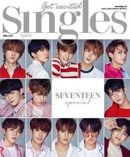 SEVENTEEN Singles Magazine April 2018