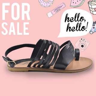 Olivia Black Women's Korean Flat Sandals