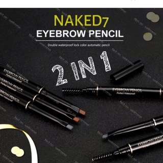 NAKED7 2 in 1 Urban Decay Eyebrow Pencil w/ Brush.