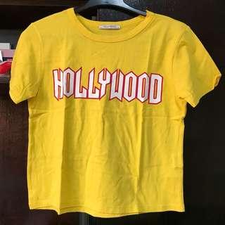 ZARA Printed Yellow Shirt