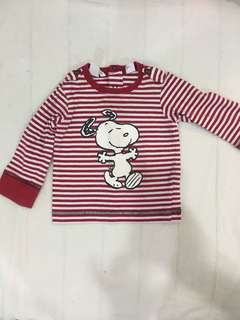 H&M Snoopy long sleeved