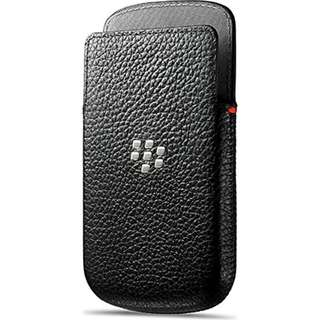 BlackBerry Leather Pocket for BlackBerry Q10 - Black