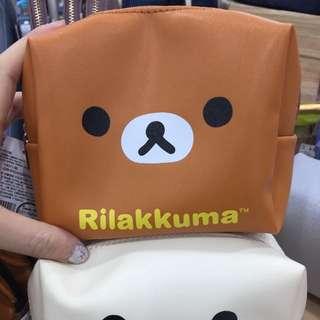 Rilakkuma 拉拉熊 懶懶熊 滑面小防水化妝包 小包包