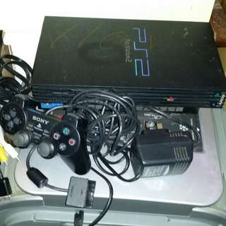 110V PlayStation 2, PS2, SCPH 35000, with 110v adapter, one controller, AV audio wire, trade in Tuen.Mun