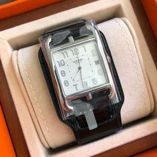 Hermes Cape cod TGM 33x33cm 鱷魚皮帶手錶