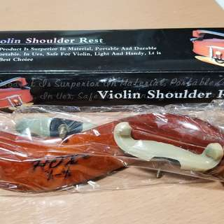 Wooden violin shoulder rest