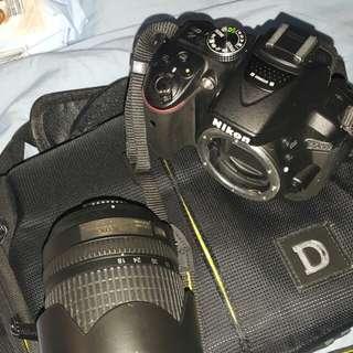 Nikon d5300 with 18-175mm lens..