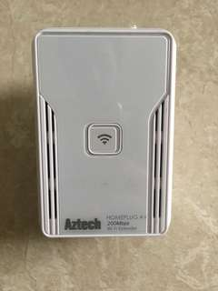 Aztech homeplug Wifi extended with dedicated wifi