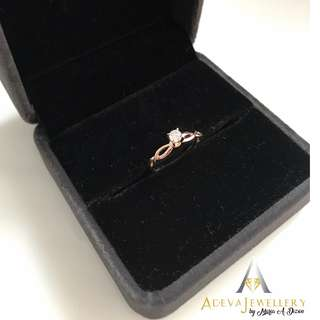 .20ct Rose Gold Engagement Ring