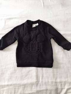 H&M Mickey Black Sweater