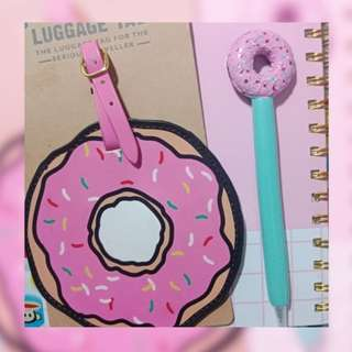 Typo Donut Luggage Tag