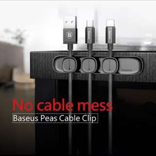 Baseus Peas Cable Clip Magnetic Cord Wire Organiser (Black)