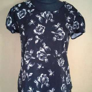 Flower Black Top