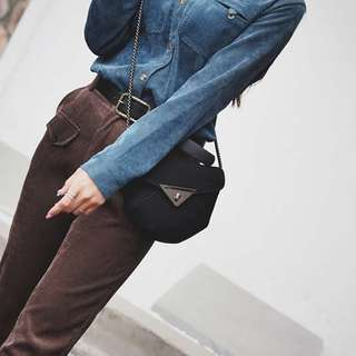 PhoebesXM2 High Quality 2in1 Triangle lock sling bag 9832