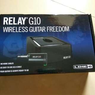 Line 6 g10 relay wireless system guitar