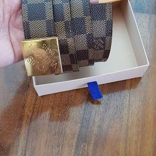 Authentic LV buckle belt damier ebene