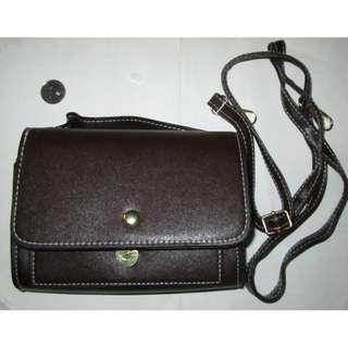 Brown Bag with long shoulder strap for women