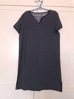 Chiffon Stripes Dress