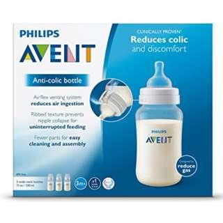 Brand New Avent Classic+ Bottle 330ml 3pcs
