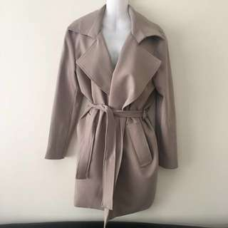 Beige Trench Coat - Free Size