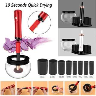 Electric Makeup Brush Cleaner & Fast Dryer Automatic Washing Tool Cleaner Machine for All Size Set Make Up Cosmetic Brushe