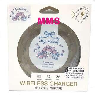 日本直送 My Melody iPhoneX samsung s8 無線充電座 無線充電器 無線充電板