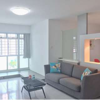 (3+1) -128B Punggol Walk  –  Near Coral Edge LRT, Punggol Plaza Shopping, Nicely Renovated, Fully Furnished, All Races Welcome!