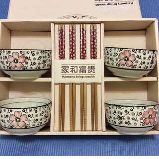 四人份家和富貴碗筷禮盒