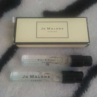 Original Jo Malone Trial Size (2ml each) Basil & Neroli Cologne