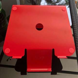 Laptop Stand with Phone Holder (red)