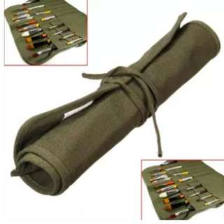 Pen roll for calligraphy pens and brushes