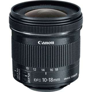 Canon 10-18mm lens ( For hire)