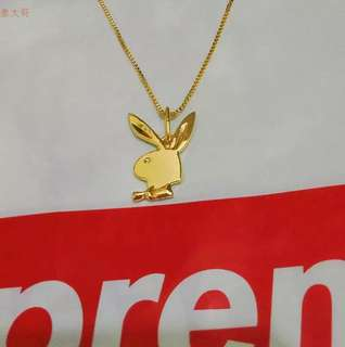 playboy gold necklace