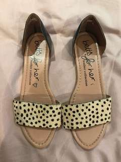 Leopard print slip ons size 9