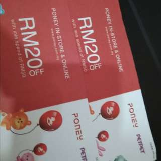 PONEY RM20 Off voucher