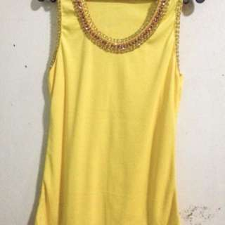Bangkok-Beaded Yellow Top