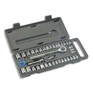 "40pc 1/4"" and 3/8"" Ratchet Socket Wrench Set"