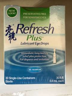 亮視Refresh Plus Lubricant eye drops