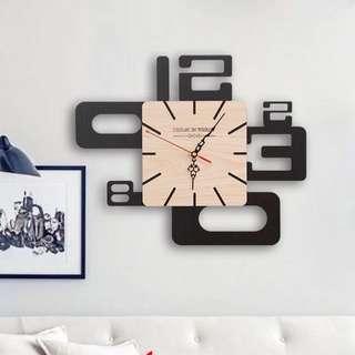 北歐風格現代掛鐘(小)