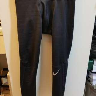 nike pro 大童3m反光運動保暖貼身褲Leggings size L( 適合女裝size s-m)