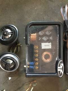 Crossover and tweeter for car audio
