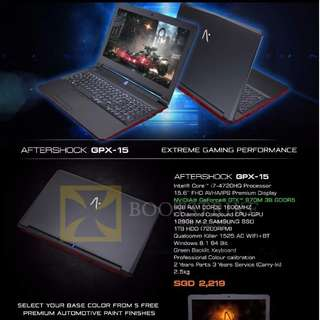 Brand new Aftershock GTX 970M gaming laptop cheap